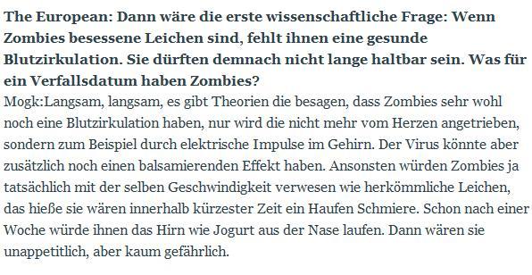 German Zombie Interview