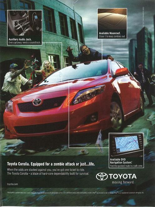 Zombie proof Toyota Corolla